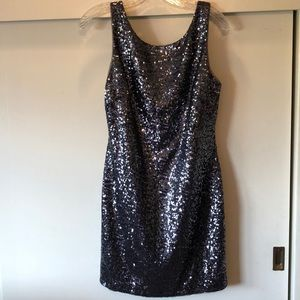 Betsy & Adam Black sequined dress, size 6